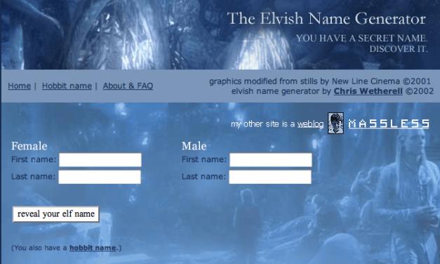 Il tuo nome in Elfico