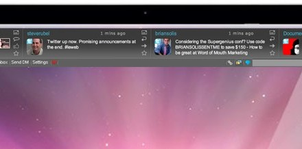 SocialVisor: il client per Twitter e Facebook servito in una barra