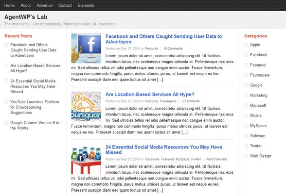 PlusOne: un nuovo template per WordPress in stile Google Plus