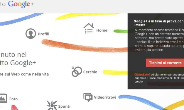Disponibili 150 inviti per Google Plus
