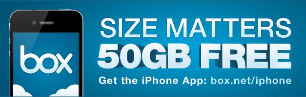 50GB di spazio gratis con Box.net per iOS