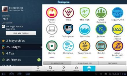 Foursquare per tablet sarà in eslusiva per i tablet Sony