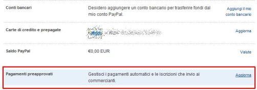 Gestione pagamenti ricorrenti Paypal