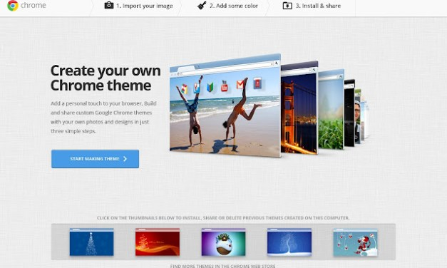 Crea gratis i tuoi temi per Google Chrome con My Chrome Theme