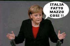 Merkel: ci avete fatto un mazzo così
