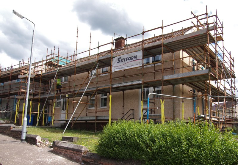 East Ayrshire Render Coated External Wall Insulation