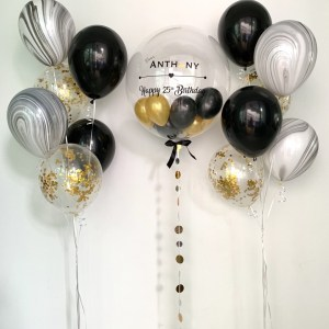Marble balloon bouquet