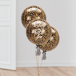 Inflated Animal Leopard Print Orb Balloon