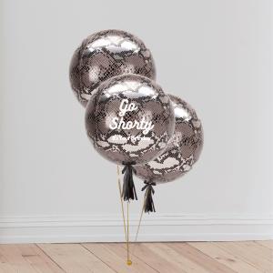Inflated Animal Python Print Orb Balloon