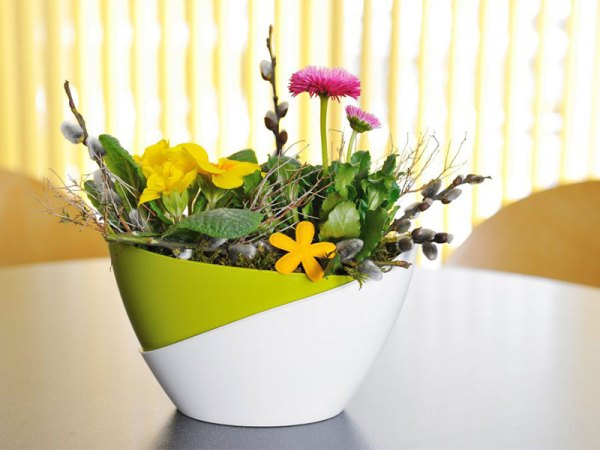 Plastia Doppio Self-watering Flower Pot