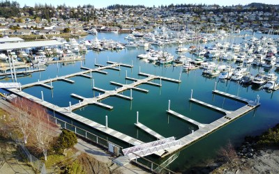 Aerial View of New Skyline Marina Docks!