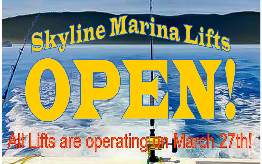 All Boat Lifts OPEN on March 27th!