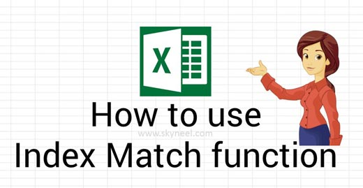 How To Use Index Match Function In Excel