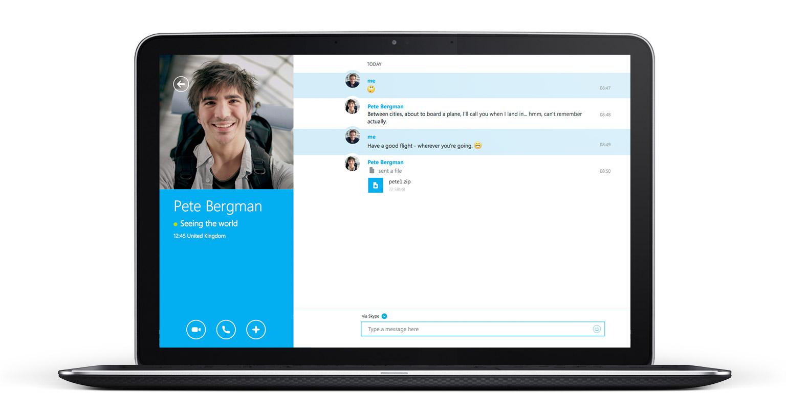 skype-video chat-messaging-görüntülü sohbet-anlık mesajlaşma