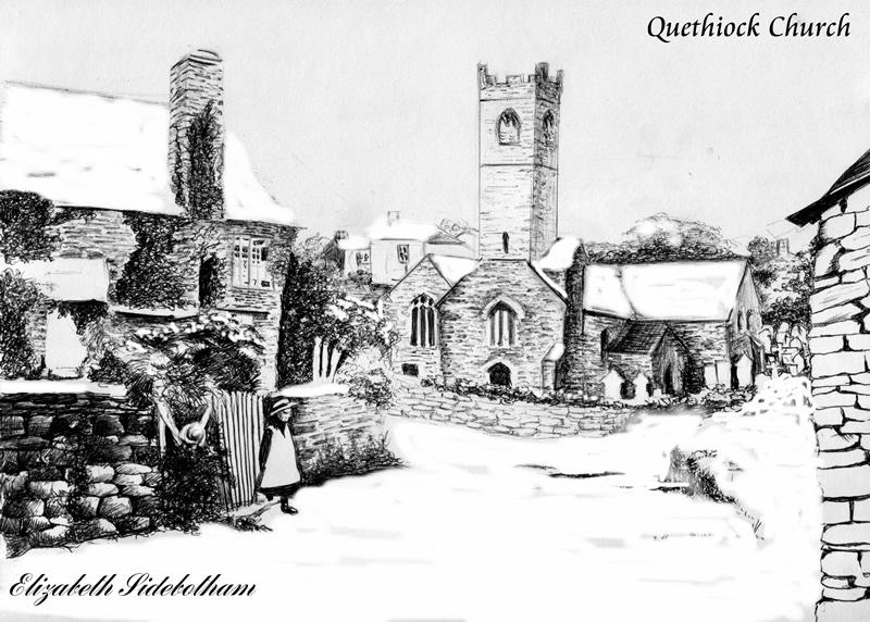 Pict Quethiock church snow