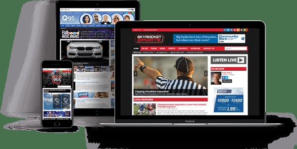 radio station website design site web media content management