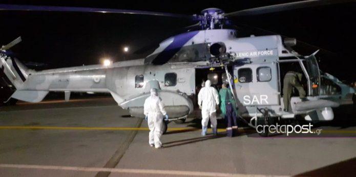 Αεροδιακομιδή ασθενούς με κορωνοϊό από τη Ρόδο στη Κρήτη
