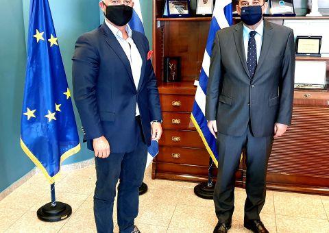 Συναντήθηκε με τον Γ. Πλακιωτάκη ο Δήμαρχος Λειψών