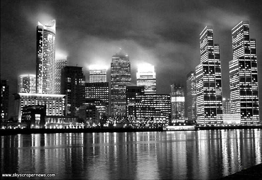 Canary Wharf Skyline, 2010