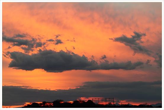 青と赤~今日の空(2012/1/3) | skyseeker:空・雲の無料寫真サイト