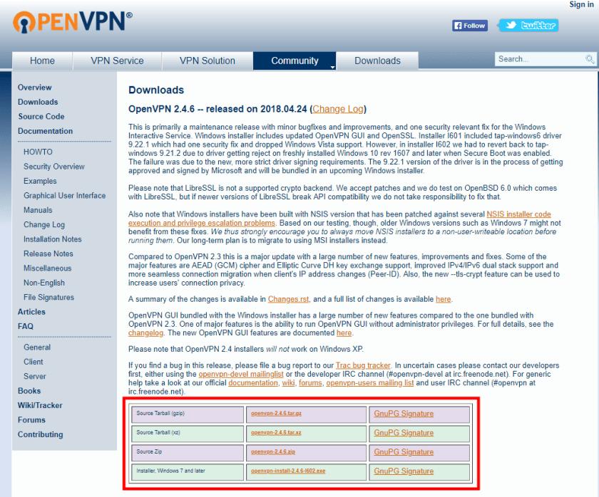 OpenVPN server desktop client