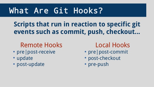 what are git hooks?