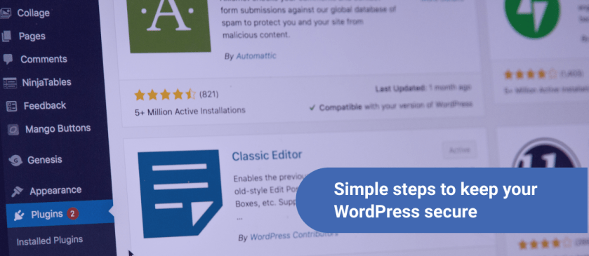 Simple steps to keep your WordPress secure