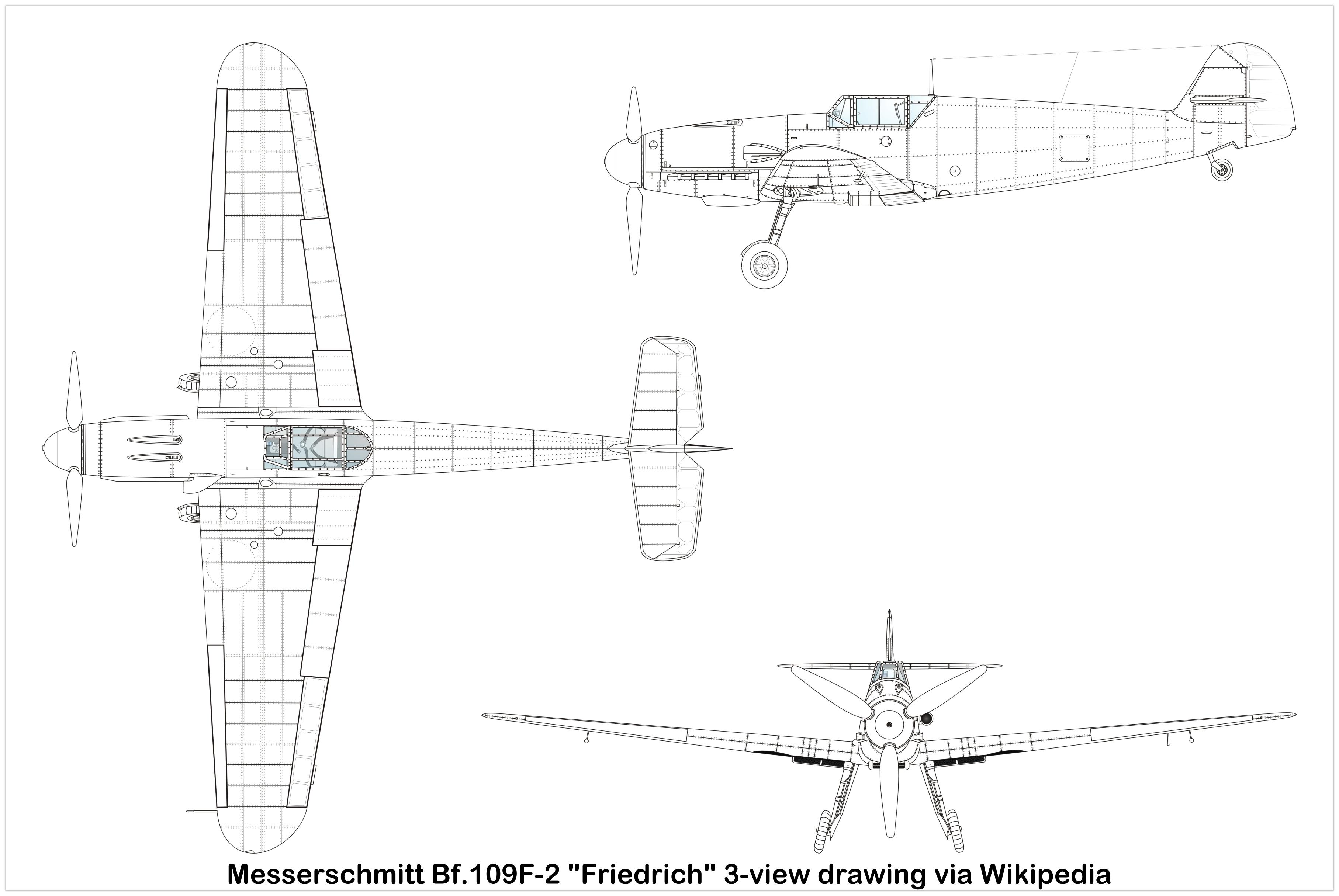 Messerschmitt Bf 109f Friedrich Specifications And Photos