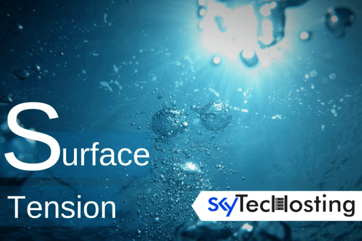 surface tension of water