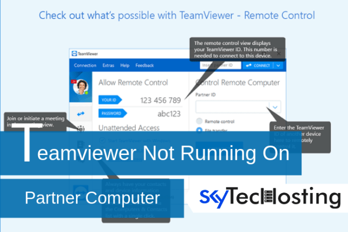 teamviewer not running on partner computer fix