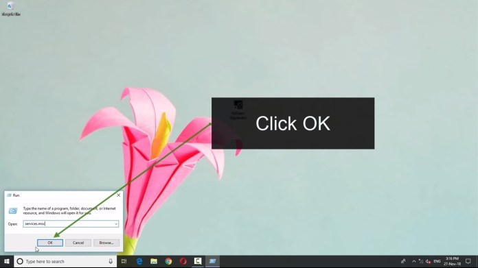Windows Key + R