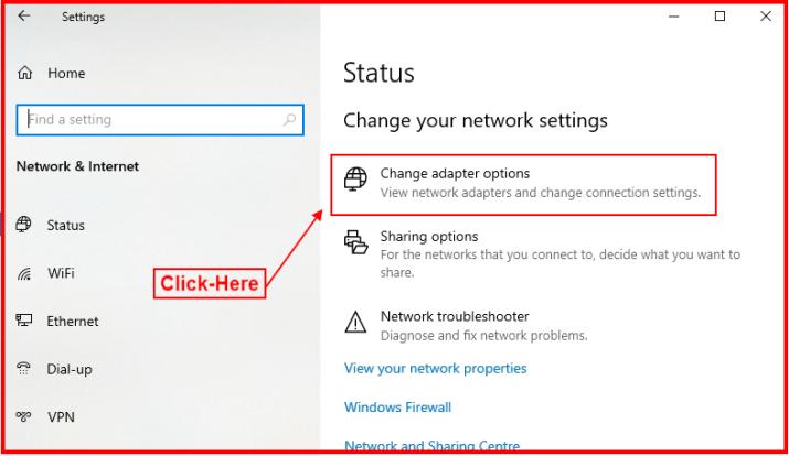 change adapter options