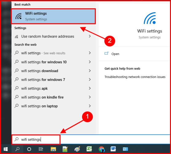 find wifi settings windows 10