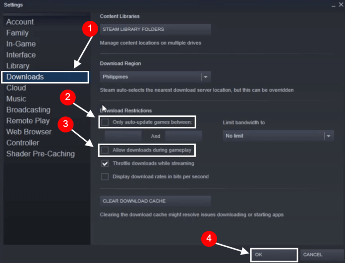 steam allow downloads during gameplay