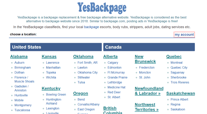A YesBackpage is alternative to backpage.com