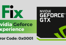 geforce experience error code 0x0001 fix