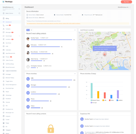 neatspy dashboard