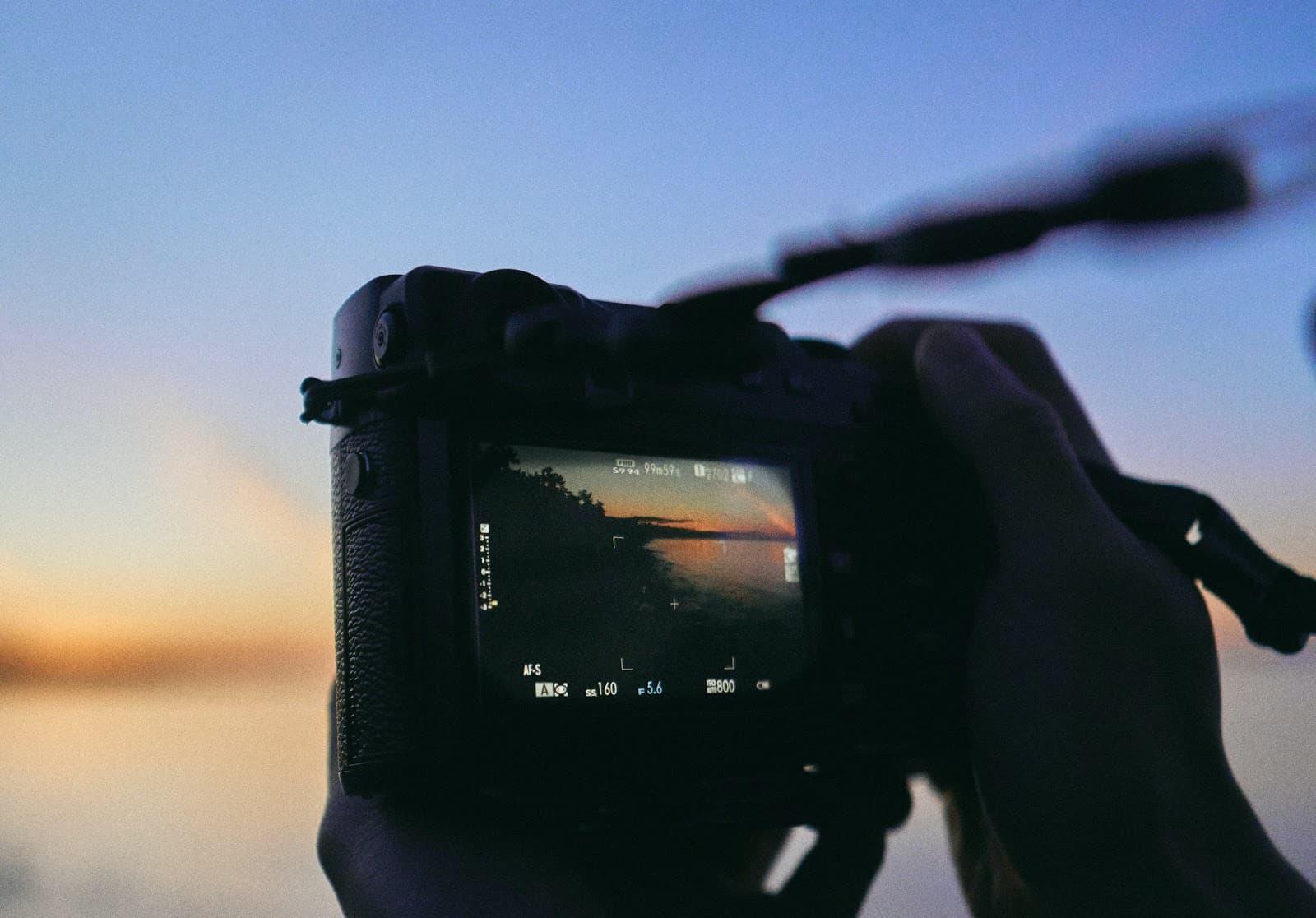 Camera click landscape photo
