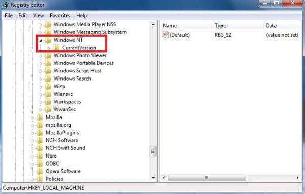 registry editor software microsoft windows NT