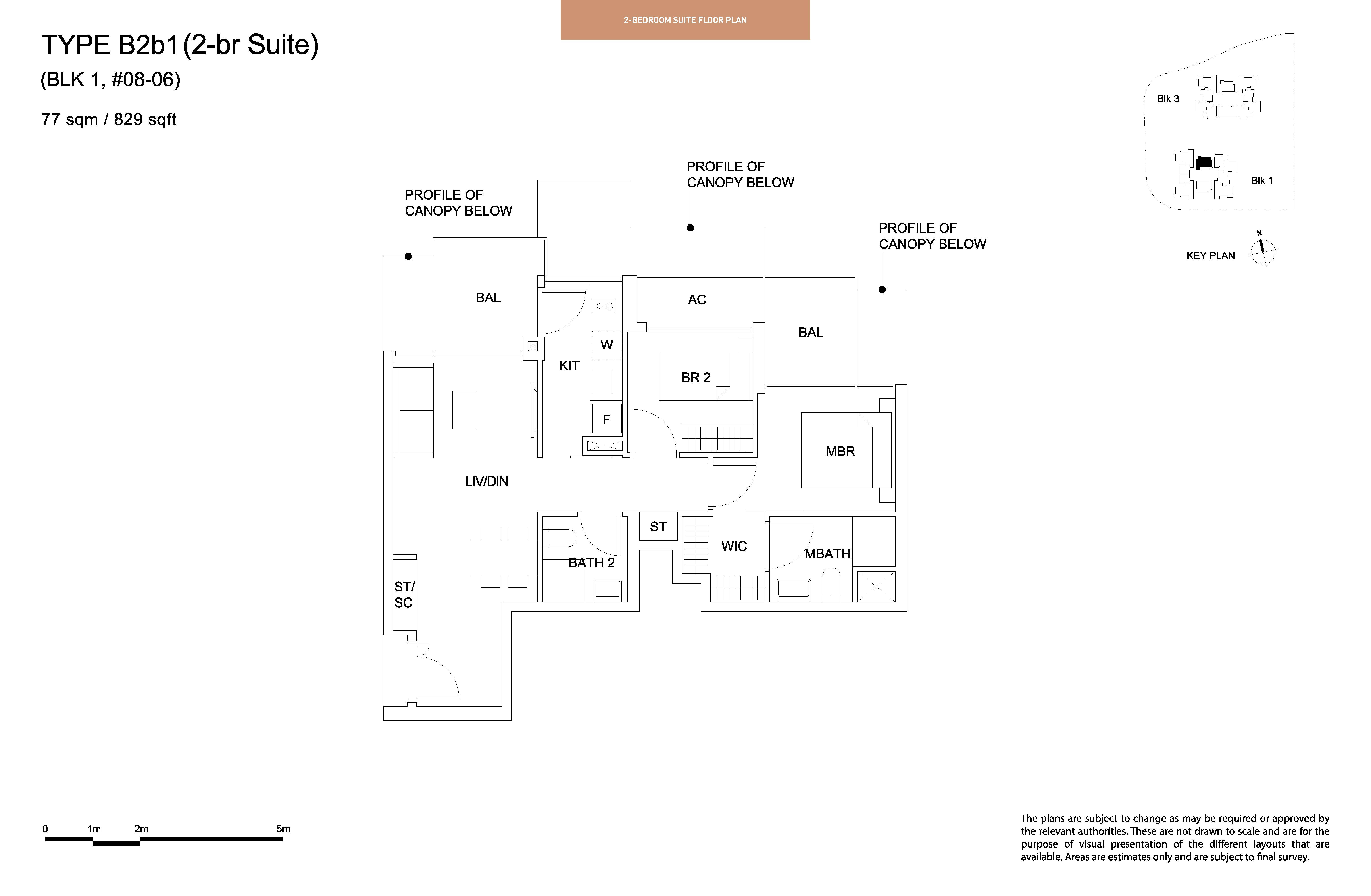 Sky Vue 2 Bedroom Suite Floor Plan Type B2b1