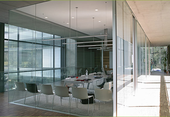Glass Partitions Brooklyn Commercial Frameless Wall