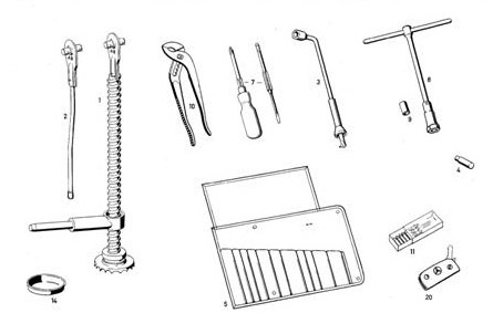 Pagoda SL Group Technical Manual :: Accessories / Toolkit