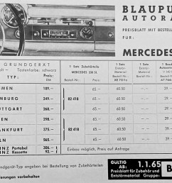 blaupunkt order form and parts list for 230sl [ 1495 x 1093 Pixel ]