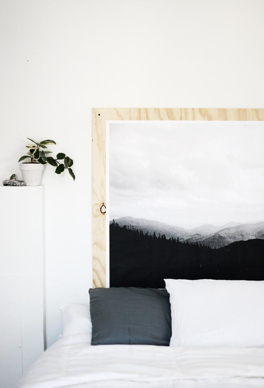 DIY underlayment muurdecoratie boven bed  Slaapkamer ideen