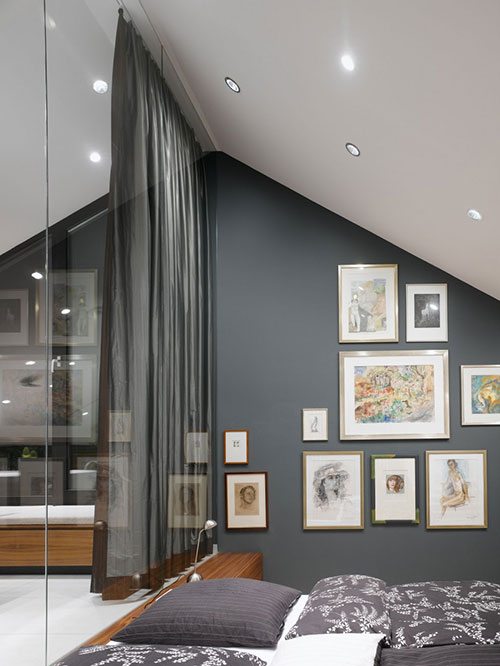 Glazen wand tussen slaapkamer en badkamer  Slaapkamer ideen