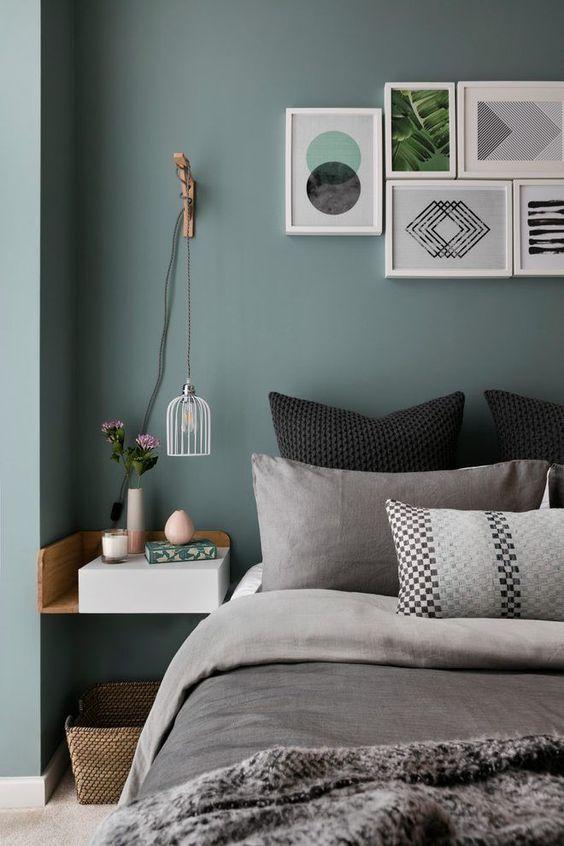 13x Groene muur in de slaapkamer  Slaapkamer ideen