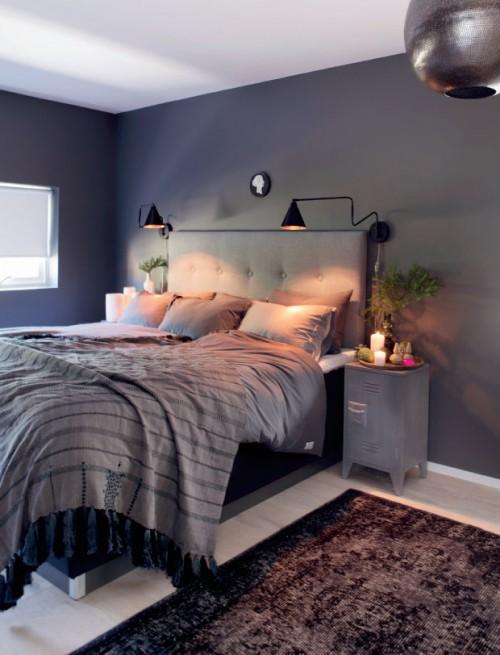 Grijze slaapkamer met kerstsfeer  Slaapkamer ideen