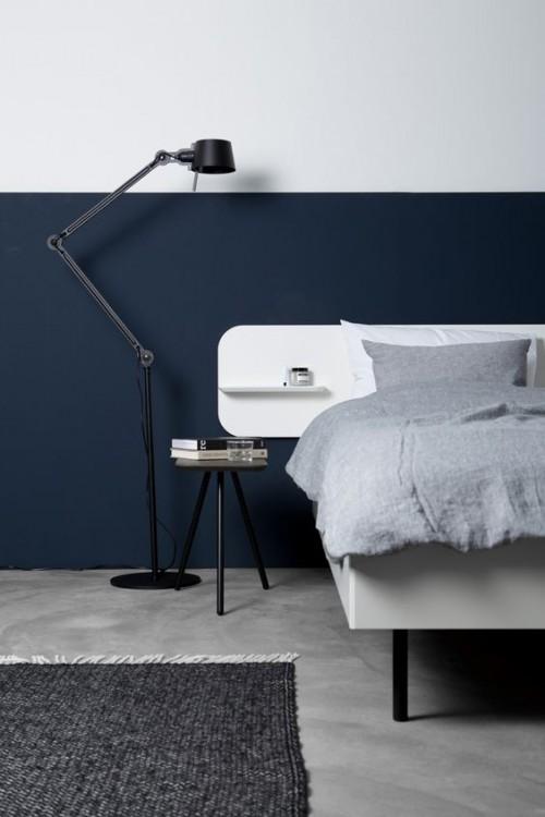Half geschilderde muren in de slaapkamer  Slaapkamer ideen