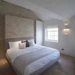 Bakstenen muur in de slaapkamer  Slaapkamer ideen