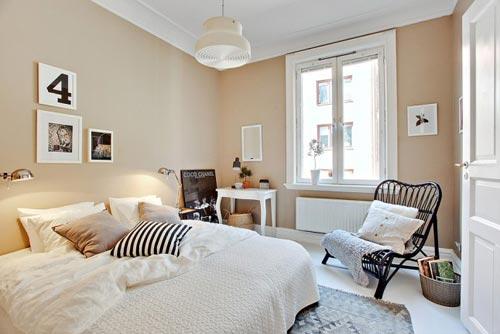 leuke decoratie in een simpele slaapkamer - boisholz, Deco ideeën